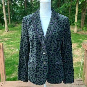 NWOT Velvet leopard print jacket by Boden